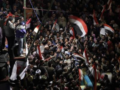 Regierungsgegner auf dem Tahrir-Platz in der Innenstadt von Kairo.