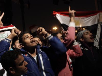Grenzenloser Jubel auf dem Tahrir-Platz in Kairo.