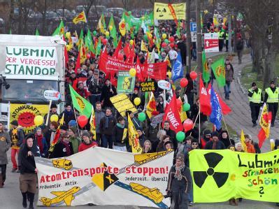 Demonstration in Greifswald gegen den Castor-Transport in das Zwischenlager Nord bei Lubmin.