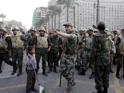 Soldaten auf dem Tahrir-Platz