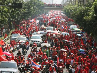 Rothemden-Demonstration in Bangkok