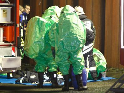 Verletzte gab es auch bei einem Arbeitsunfall in der vergangenen Woche in einem Logistikbetrieb im nordhessischen Homberg/Efze. Dort waren gefährliche Dämpe ausgetreten. (Archivbild)