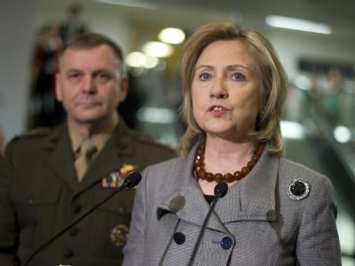 Hillary Clinton: «Wir haben um diesen Krieg nicht gebeten, aber wir werden ihn sicher beenden».