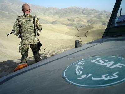 Ein Bundeswehrsoldat sichert in Afghanistan eine Erkundungsmission. (Archivfoto)