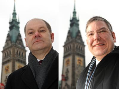 Olaf Scholz und Christoph Ahlhaus