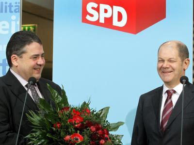 Sigmar Gabriel und Olaf Scholz
