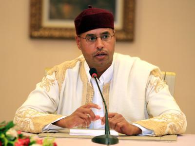 Saif al-Islam al-Gaddafi. Der Internationale Strafgerichtshof hat gegen ihn einen Haftbefehl wegen schwerer Kriegsverbrechen ausgestellt.