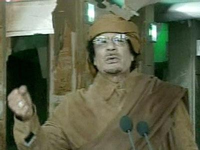 Staatschef Gaddafi hält Ansprache
