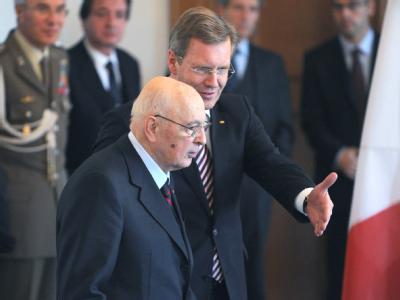 Wulff empf�ngt Napolitano
