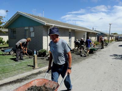 Freiwillige aus ganz Neuseeland sind nach Christchurch gekommen.