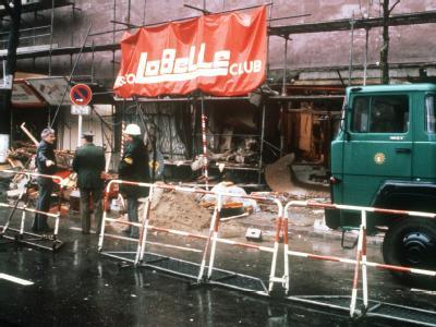 Die Berliner Diskothek «La Belle» wurde bei einem Bombenanschlag zerstört (Archivfoto vom 05.04.1986).