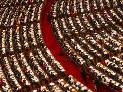Delegierte des Volkskongresses in der Großen Halle des Volkes. (Archivbild)