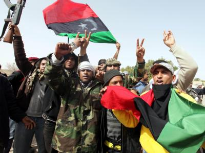 Libysche Rebellen in Ras Lanouf im Osten LIbyens.