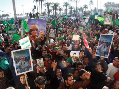 Pro-Gaddafi-Demostration
