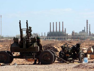 Rebellen bei Ras Lanuf