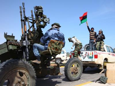 Rebellen in Ras Lanuf