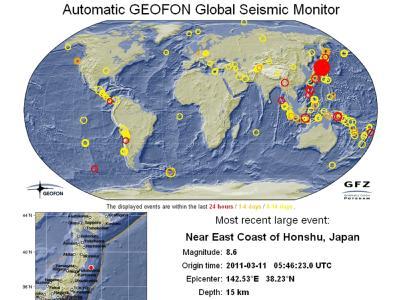Seismische Aktivitäten