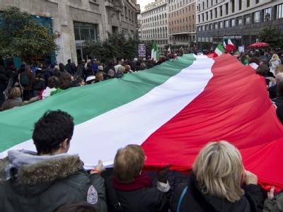 Demonstranten in Rom