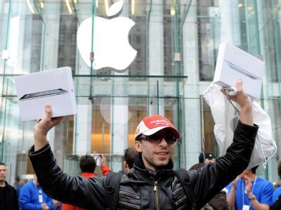 Das gibt es nur bei Apple: Käufer jubeln, dass sie viel Geld ausgeben durften (Archiv).