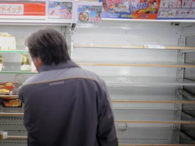 Leergekaufter Laden in der Nähe der Stadt Utsunomiya.