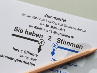 Stimmzettel zur Landtagswahl in Sachsen-Anhalt: Die Wahlbeteiligung hat in den letzten Jahren stetig abgenommen.