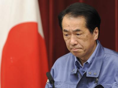 Der japanische Premierminister Naoto Kaoto Kan