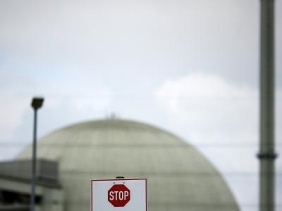 Das Atomkraftwerk Biblis A in Hessen