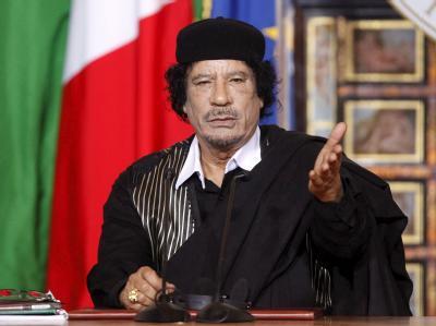 Libyens Machthaber Muammar al-Gaddafi.