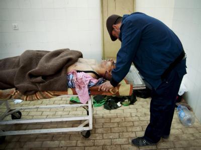 Leichenhalle eines Krankenhauses in der Nähe von Bengasi (Foto vom 19.3.2011).