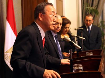 UN-Generalsekretär Ban Ki Moon in Kairo