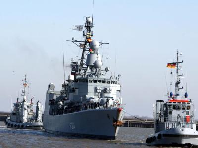 Die Fregatte «Lübeck» könnte der Nato für den Anti-Terror-Einsatz angeboten werden (Archivfoto).