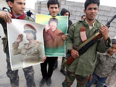 Anh�nger von Gaddafi