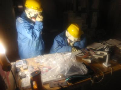 Ingenieure arbeiten am AKW Fukushima. Foto: Nuclear and Industrial Safety Agency