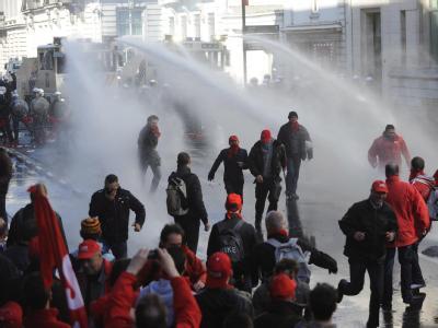 Ausschreitungen in Brüssel