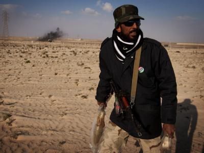 Libyscher Rebell in Adschdabija