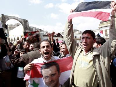 Demonstration in Syrien