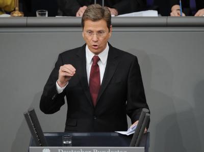 FDP-Chef und Außenminister Guido Westerwelle am Freitag im Bundestag