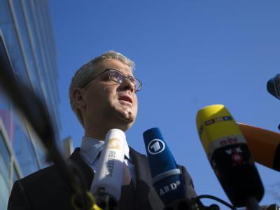 Umweltminister Norbert Röttgen (CDU) bei der Ankunft zur CDU-Vorstandssitzung in Berlin.