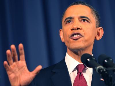 Obama hält den Vormarsch der Gaddafi-Einheiten für gestoppt.