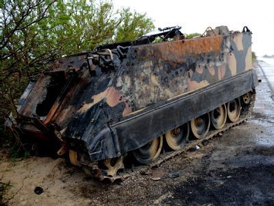 Ausgebrannter Schützenpanzer
