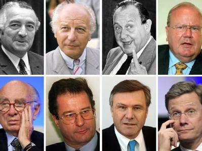 Die bisherigen Bundesvorsitzenden der FDP
