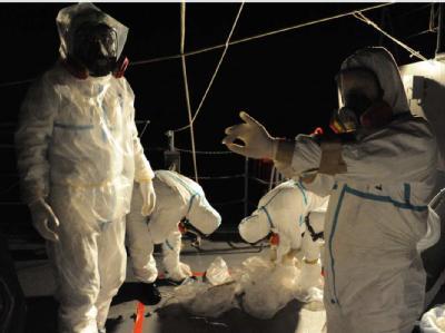 Arbeiten zur Kühlung der Reaktoren am havarierten Atomkraftwerk Fukushima. (Archivbild)