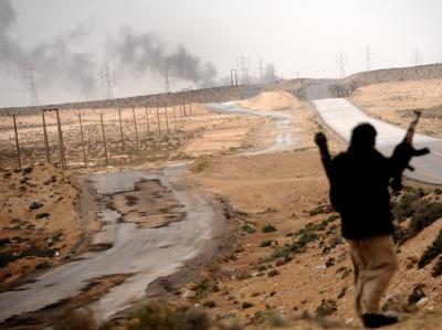 Aufständischer nahe Al-Brega