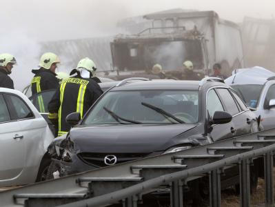 Ein Sandsturm und schlechte Sicht waren der Auslöser für den schweren Unfall.
