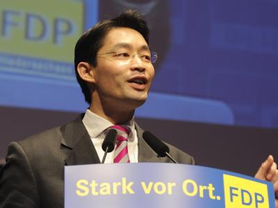 Philipp Rösler am Samstag während des FDP-Landesparteitages in Braunschweig.