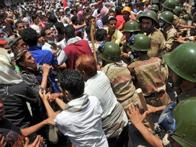 Bei den Protesten im Jemen sind über 300 Menschen verletzt worden.