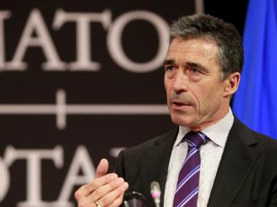 Nato-Generalsekretär Anders Fogh Rasmussen stellte sich beim Treffen der Nato-Außenminister hinter die Streitkräfte.