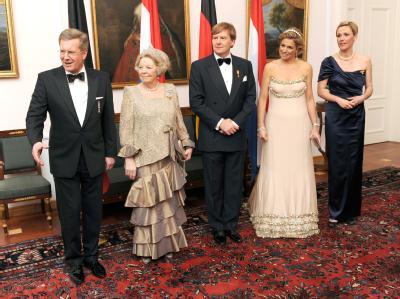Niederländische Königsfamilie in Deutschland - Bankett