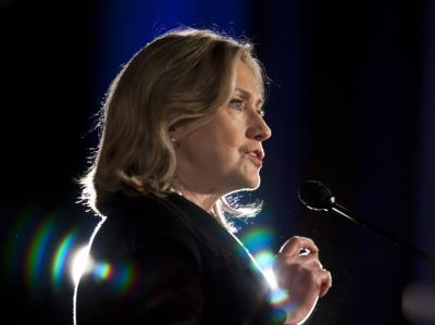US-Außenministerin Clinton beim amerikanisch-islamischen Weltforum in Washington.