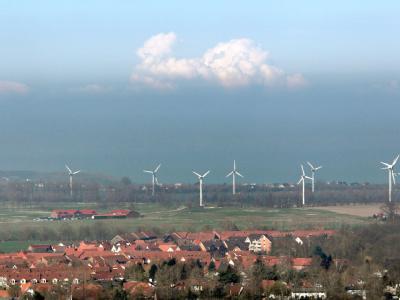 Windräder in Nienhagen an der Ostsee